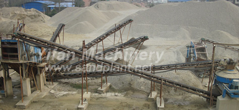 Sand and gravel aggregate processing production line
